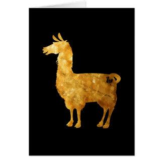 Cartão do lama do ouro