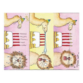 Cartão do LAMA E do LEÃO por Nicole Janes