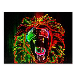 Cartão do leão de Rasta
