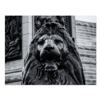 Cartão do leão do bronze do quadrado de Trafalgar