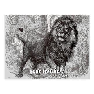 Cartão do leão do vintage