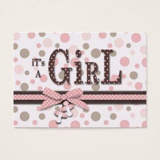 Cartão do lembrete do chá de fraldas da menina