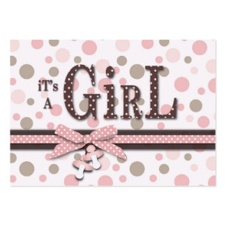 Cartão do lembrete do chá de fraldas da menina cartoes de visita