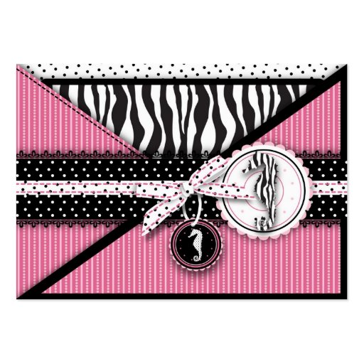 Cartão do lembrete do rosa da sensação do cavalo m modelo cartão de visita