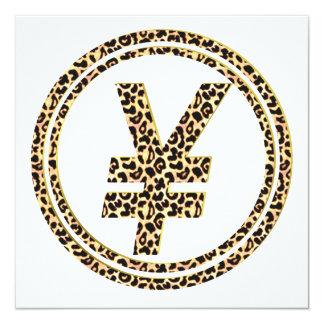 Cartão ¥ do leopardo
