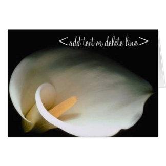 Cartão do lírio de Calla