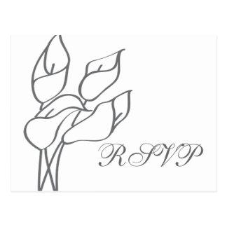 Cartão do lírio de Calla RSVP Cartoes Postais