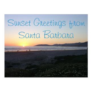 Cartão do litoral de Califórnia