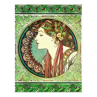 Cartão do louro de Alphonse Mucha