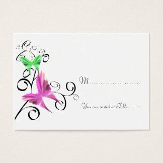 Cartão do lugar da borboleta do casamento