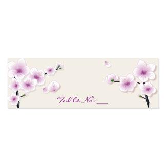 Cartão do lugar da mesa da flor do primavera