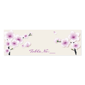 Cartão do lugar da mesa da flor do primavera cartão de visita