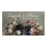 Cartão do lugar da mesa - rosas cor-de-rosa de cre cartoes de visita