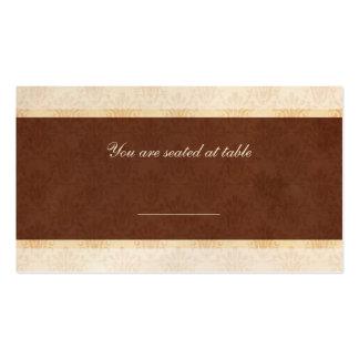 Cartão do lugar da recepção de casamento do chocol cartoes de visitas
