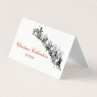 Cartão do lugar do cartão da escolta do trenó #2