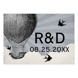 Cartão do lugar do casamento do balão de ar quente cartoes de visitas