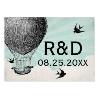 Cartão do lugar do casamento do balão de ar quente modelos cartões de visita