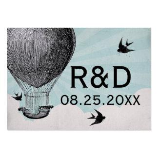Cartão do lugar do casamento do balão de ar quente