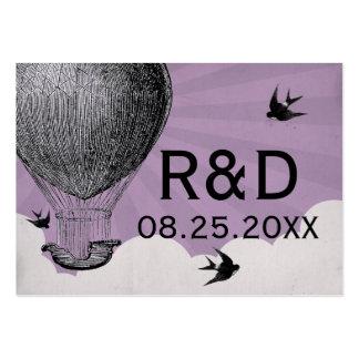 Cartão do lugar do casamento do balão de ar quente modelo cartao de visita