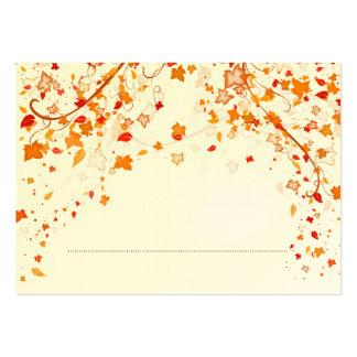 Cartão do lugar do casamento do folhagem de outono modelo cartoes de visitas