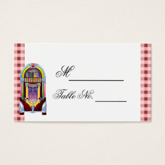 cartão do lugar do casamento do jukebox do vintage