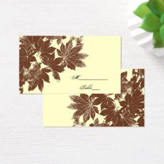 Cartão do lugar do casamento do selo da folha da