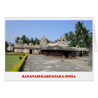 cartão do lugar do turista de karnataka india do