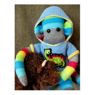 Cartão do macaco da peúga de Marte - Jed