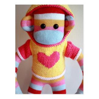 Cartão do macaco da peúga de Marte - Samantha