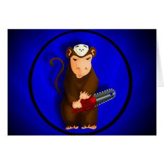 Cartão do macaco da serra de cadeia