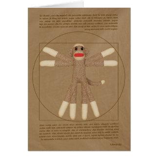 Cartão do macaco de Vitruvian