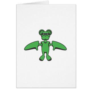 Cartão do macaco do vôo