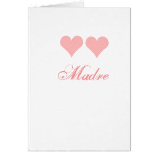 cartão do madre com corações cor-de-rosa