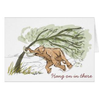 Cartão do Mammoth Woolly (cair sobre dentro lá)