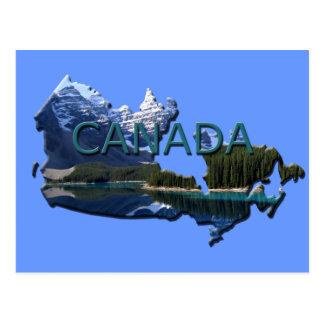 Cartão do mapa da paisagem de Canadá