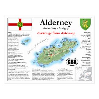 Cartão do mapa de Alderney