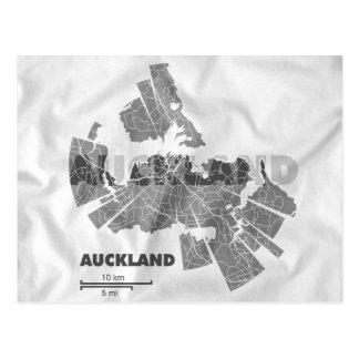 Cartão do mapa de Auckland