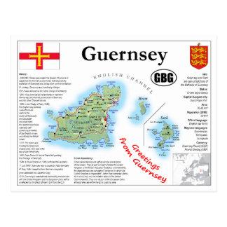 Cartão do mapa de Guernsey