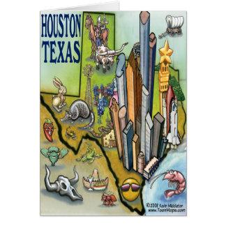 Cartão do mapa de Houston TEXAS