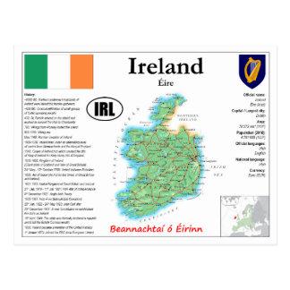 Cartão do mapa de Ireland