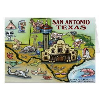Cartão do mapa de San Antonio TEXAS