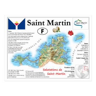 Cartão do mapa de St Martin