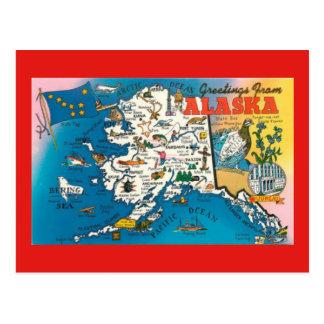 Cartão do mapa do estado de Alaska
