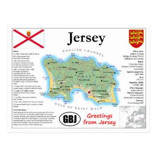 Cartão do mapa do jérsei
