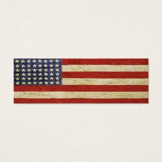 Cartão do marcador com a bandeira americana do