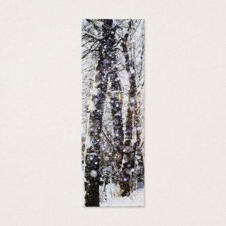 Cartão do marcador das árvores da neve do Feliz