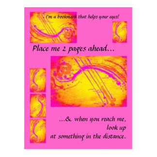 Cartão do marcador do rosa quente