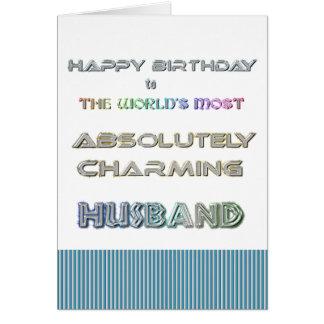 Cartão do marido do feliz aniversario