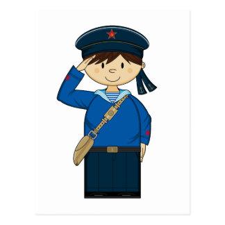 Cartão do marinheiro do russo WW2