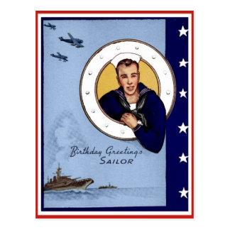 Cartão do marinheiro dos cumprimentos de
